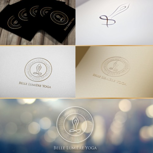 Create a radiant logo and website for Belle Lumiere Yoga