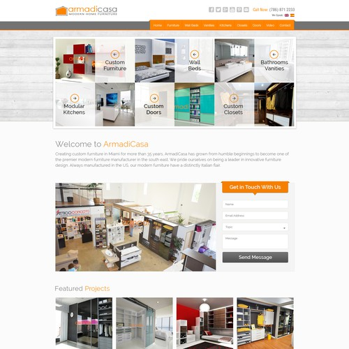 Custom Furniture / Modern Furniture Website