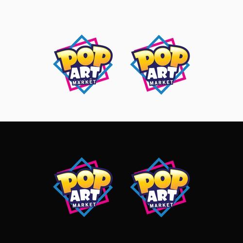 POP ART MARKET LOGO