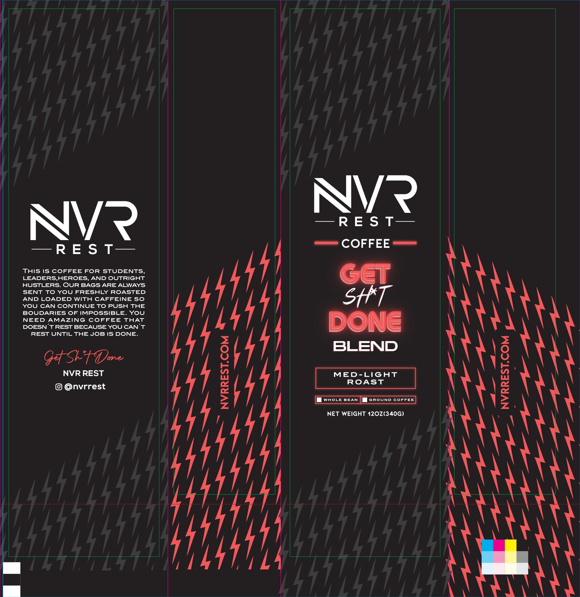 Modern Coffee Bag Design - NVR REST Coffee Co.