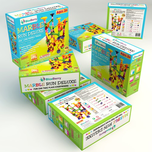 Design an appealing and playful package for BloxBerry.