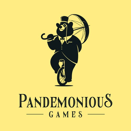 Sophisticated Gentleman Bear for Pandemonious Games Logo