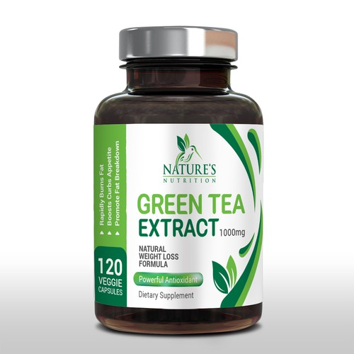 Packagin for green tea extract