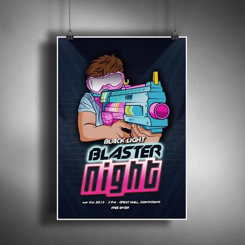 Blaster Night poster
