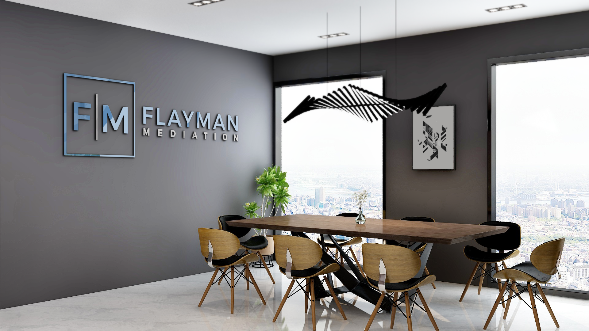 Flayman Mediation -- Zoom background
