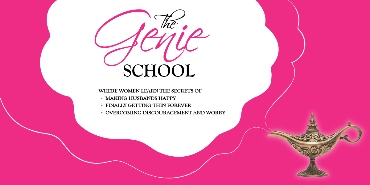 "Create a banner for an email blog, called ""The Genie School"""