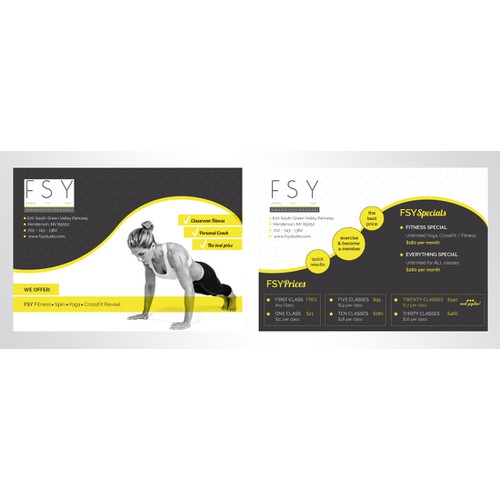 Flyer design for Fitness/Spa/Yoga studio