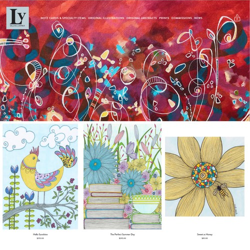 Website - Artist (Illustrations, Note Cards, Abstracts)