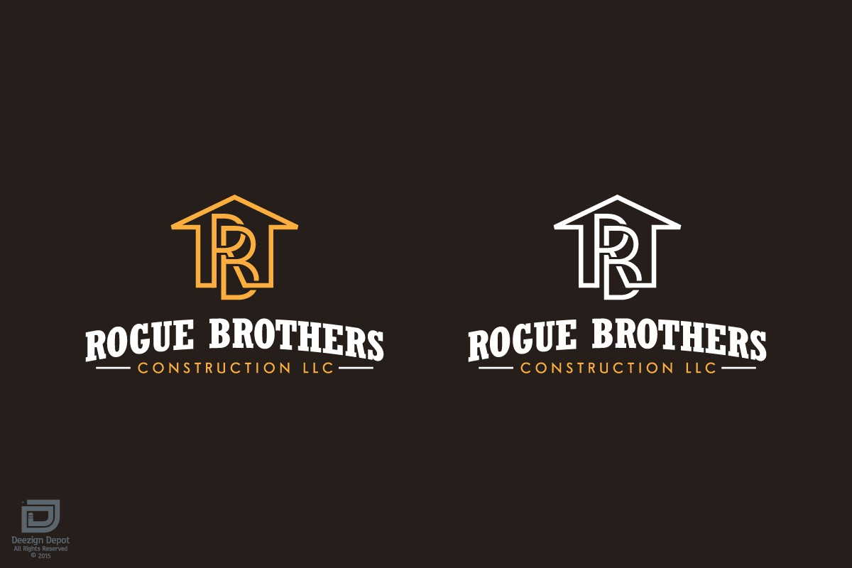 Create a semi rustic logo for a residential construction company