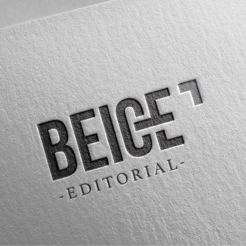 Bold logo for Editorial Agency