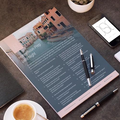 Luxury honeymoon planner Flyer Design