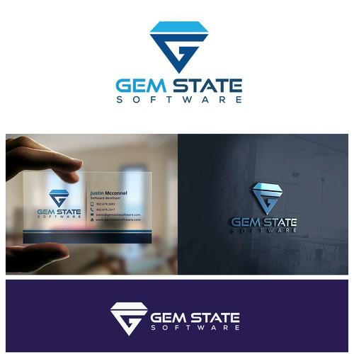 Logo design concept for Gemstate softwares