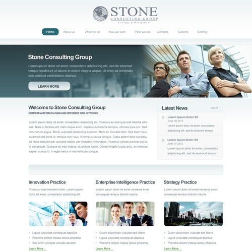 New website or app design wanted for Stone Consulting Group - must be able to recreate design in domain space