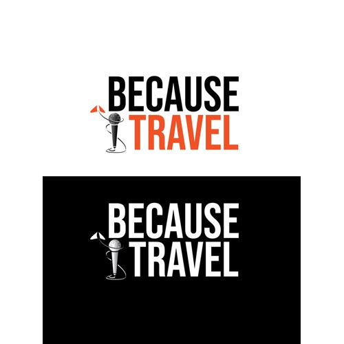 Logo for travel podcast and show