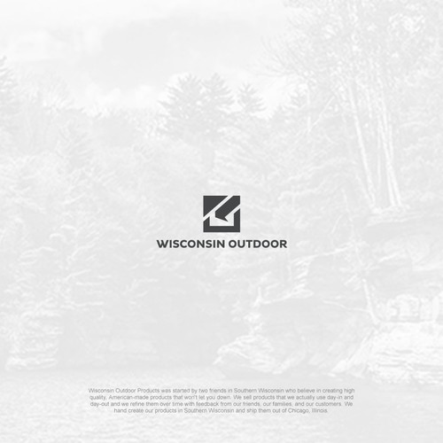 Bold and minimalist logo for Wisconsin Outdoor