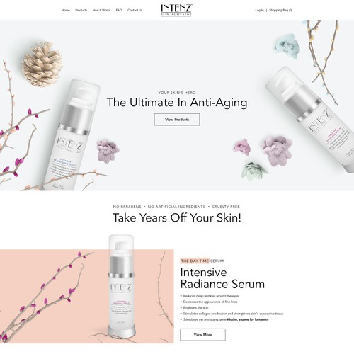 Be Unique! Create A Website For A New Intensive Face Serum