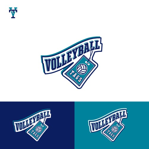 Volleyball Tags Logomark
