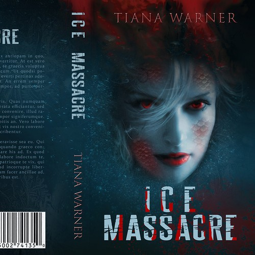 YA Fantasy Book cover - ICE MASSACRE