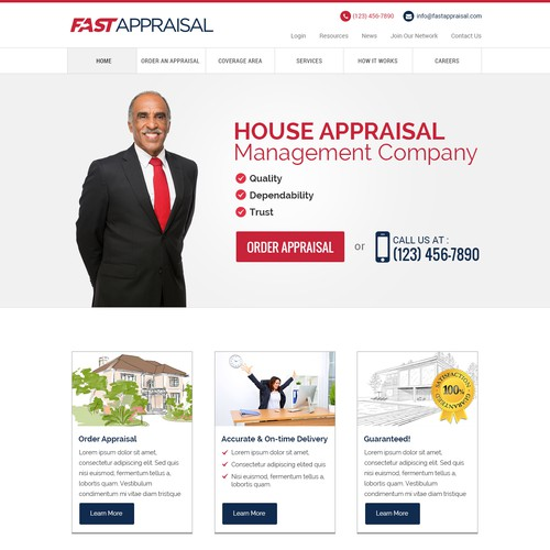 Simple and elegant design concept for a Real Estate company