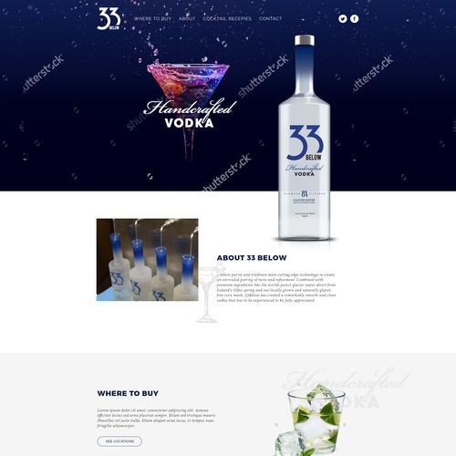 Vodka Landing page