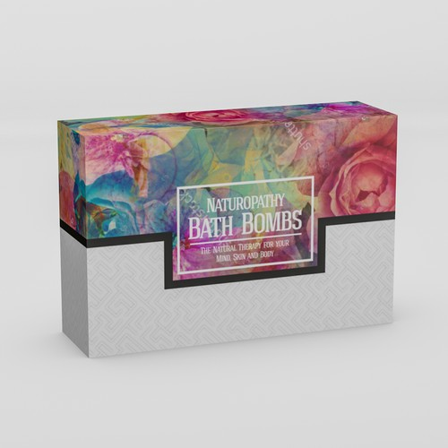 Eye-cathing box design for Bath Bombs