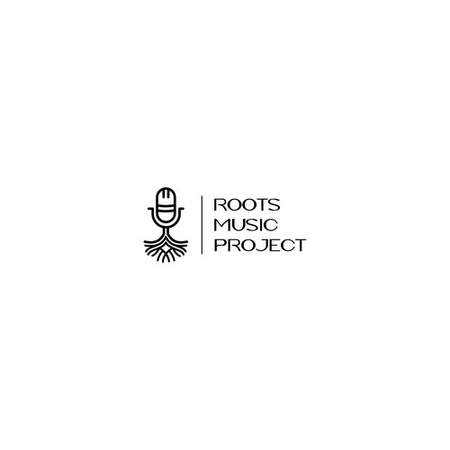 Minimal logo for roots music project