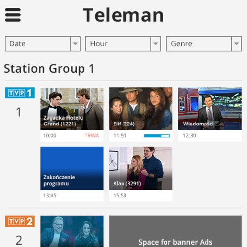 Teleman mobile web redesign