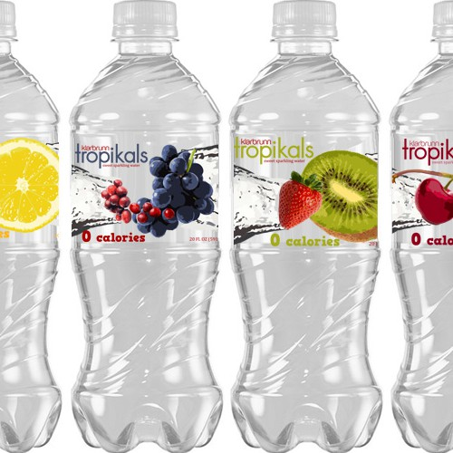 Design a fun label for a new sparkling water!