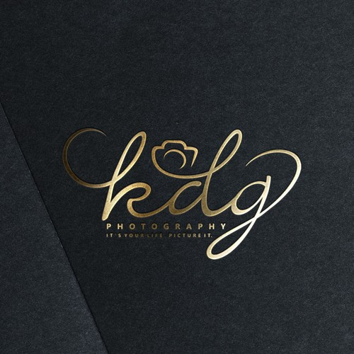 elegant logo with a touch of cleverness for KDG Photography.