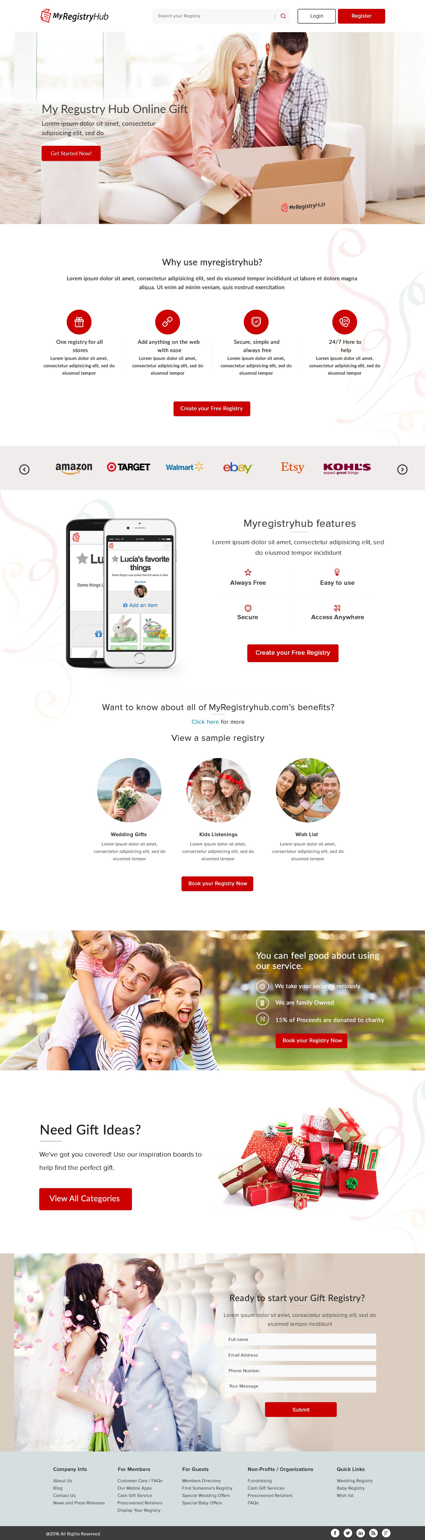 My Registry Hub needs an awesome new landing page