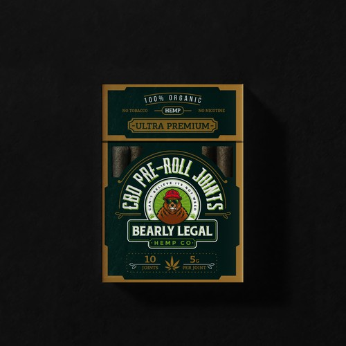 Packaging for preroll CBD joints