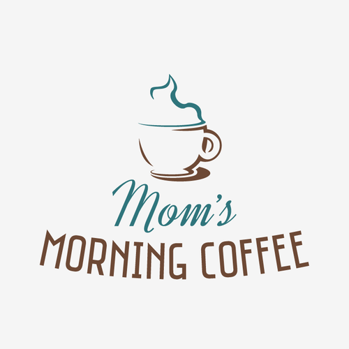 Create a simple, cute coffee logo for a mommy blog