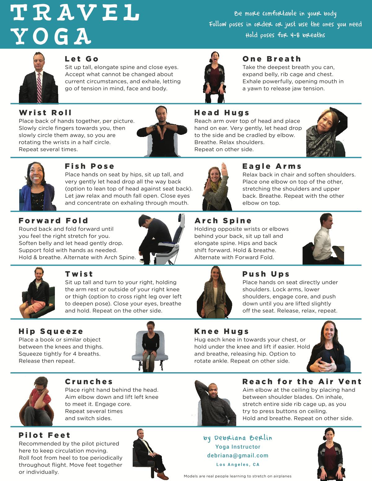 Airplane to Travel Yoga