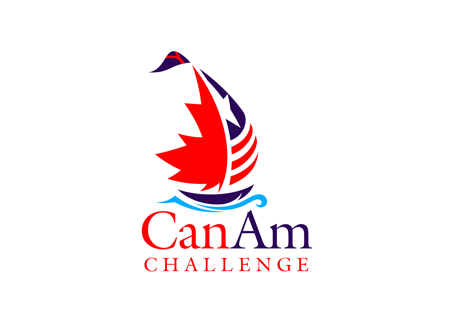 Design a logo for a new sailing event between USA and Canada!