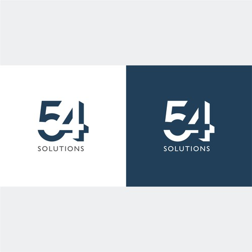 Logo concept for '54 Solutions'