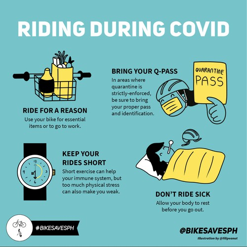 Infographic on bicycle riding during COVID-19