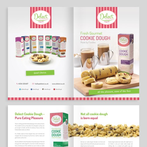 Create a brochure for our gourmet product range