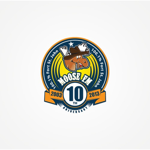 Radio station 10th anniversary logo