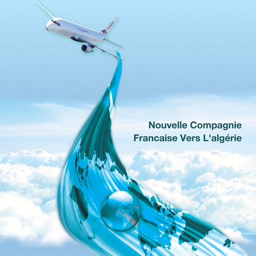 Poster design for an airplane company