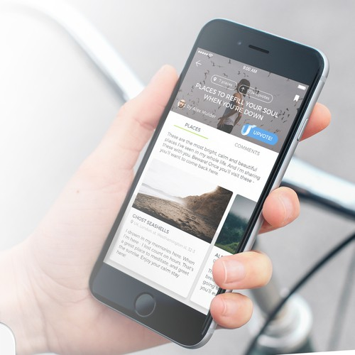 Design for a social mobile application