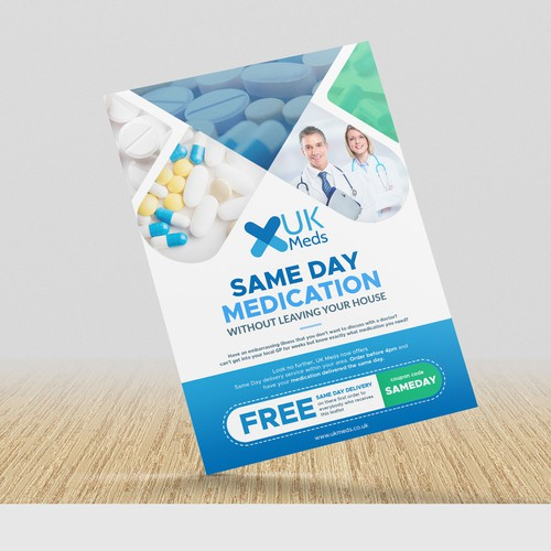 leaflet for an online pharmacy