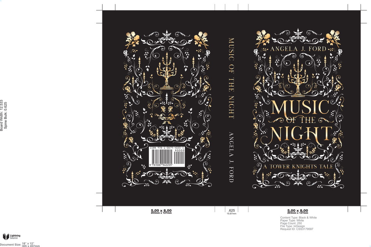 Music of the Night - book cover design