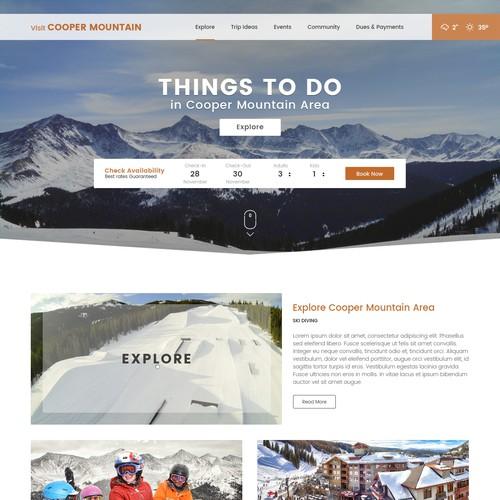 Website design for Cooper Mountain