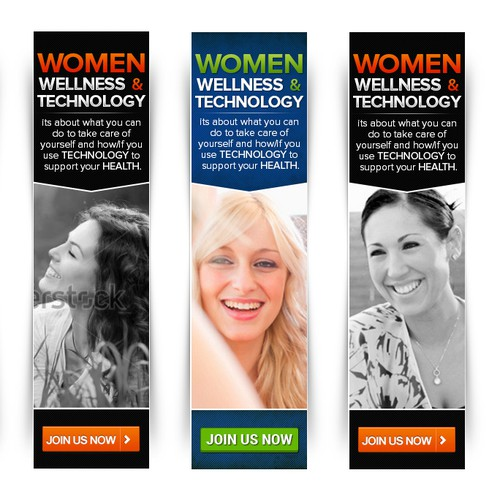 Women, Wellness and Technology Research Study Banner Ads