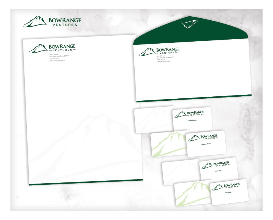 Create the next stationery for Bow Range Ventures