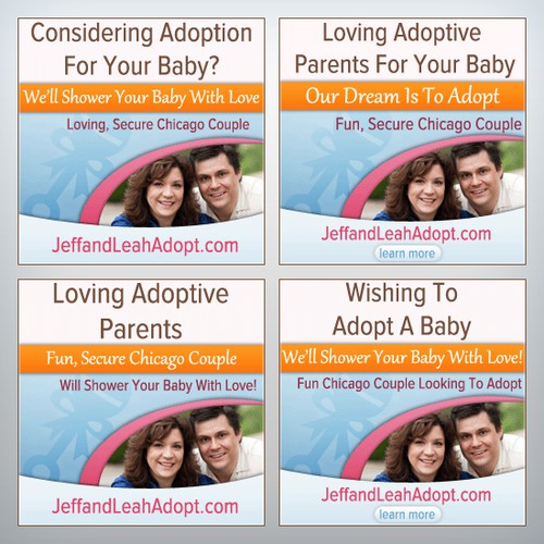 Leah & Jeff Adopt needs a new banner ad