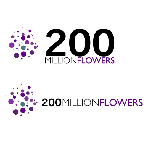 Create the next logo for 200 Million Flowers
