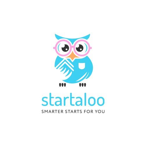 Startaloo - Nerdy owl logo