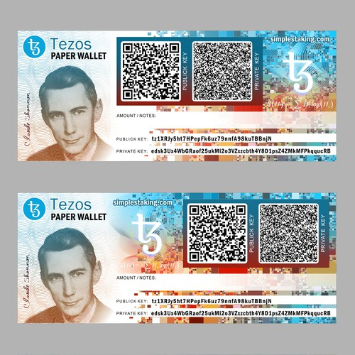 Paper wallet crypto currency