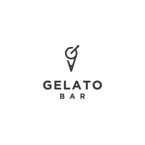 logo concept for gelato bar